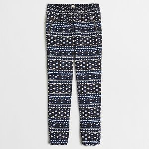 💘 J. Crew Sydney Printed Pull On Jogger Pants